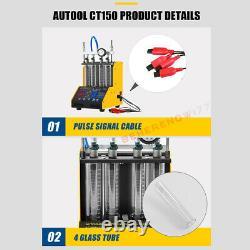 Autool CT150 Ultrasonic Fuel Injector Tester Cleaner 12V 24V Car Van Motor USA