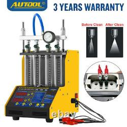 Autool CT150 Ultrasonic Fuel Injector Tester Cleaner 4Cylinder For 220V EU Plug