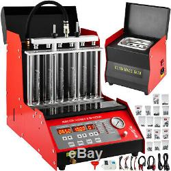 CNC602A Ultrasonic Fuel Injector Cleaner Tester 6 Cylinder Transformer