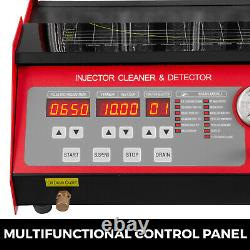 CNC602A Ultrasonic Fuel Injector Cleaner Tester Tank Motorcycle Petrol