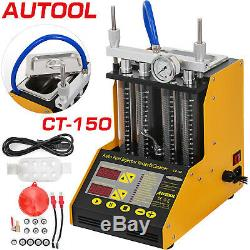 CT150 Auto Fuel Injector Cleaner Tester ultrasonic Gasoline Petrol 4-Cylinder