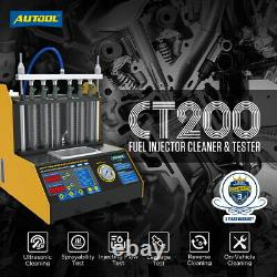 Car Motorcycle Fuel Injector Cleaning Machine Ultrasonic Cleaner Tester Kit 110V