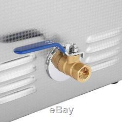 Cleaning Machine Ultrasonic Cleaner Bath Tank Timer Heated Machine 10L Digital