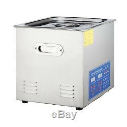 Commercial 10L Ultrasonic Cleaner Digital Electric Ultrasound Cleaner with Timer