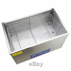 Commercial 30L Stainless Steel Heated Ultrasonic Cleaner with Digital Timer