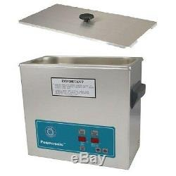 Crest Powersonic Ultrasonic Cleaner 1.5 Gallon Timer & Heat P500H-45 & Basket