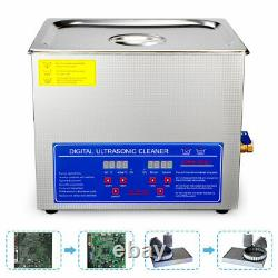 Digital Stainless Steel 10L Industry Heated Ultrasonic Cleaner Heater with Timer