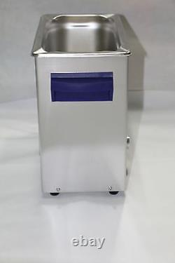 Durasonix 6.5 L Ultrasonic Cleaner with busket, Timer & Heater Stainless Built