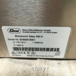 ELMA ULTRASONICS EP180H Ultrasonic Cleaner 5 gal Tank Timer 1-30 min DAMAGE