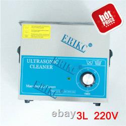 ERIKC Diesel Injector Cleaner Kit 220V, 3L Ultrasonic Injector Cleaning Machine