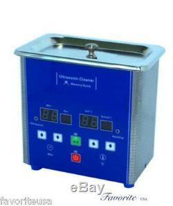 Eumax 0.7 Liter 1-1/2 Pints Small Capacity Heated Digital Ultrasonic Cleaner