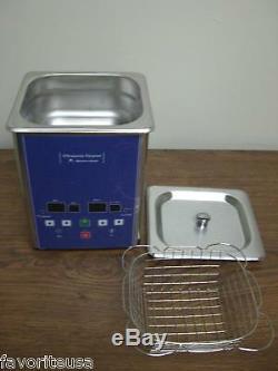Eumax 1.2 Liter 1-1/4 Quart Heated Digital Ultrasonic Cleaner Small
