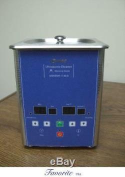 Eumax Digital Heated Ultrasonic Small Capacity Cleaner 1/2 Gallon 1.8 Liter New