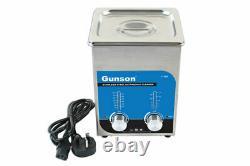 Gunson 77163 2 Litre Stainless Steel Ultrasonic Cleaner with UK + EU Plug