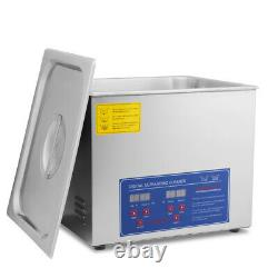 HFS(R)Commercial Grade Digital Ultrasonic Cleaner Stainless Steel 10L Capacity
