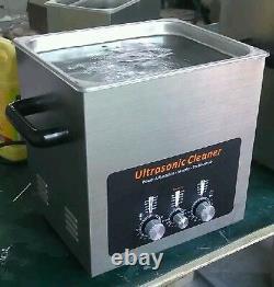High quality power adjustable Manual control LED bar 10L tank Ultrasonic cleaner