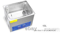 Industry Ultrasonic Cleaner 10L Heated DEGAS Ultra Sonic Cleaning Supplies