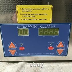 LAB SAFETY SUPPLY 32V118A Ultrasonic Cleaner 0.8 gal Tank Timer Range 1 99 min