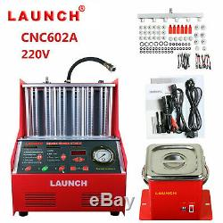 LAUNCH CNC602A Auto Ultrasonic Fuel Injector Cleaner Tester For 110V Petrol Car