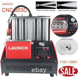 LAUNCH CNC603C Ultrasonic Fuel Injector Cleaner Cleaning Tester+110V Transformer