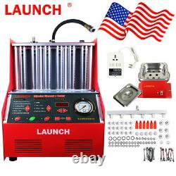 LAUNCH Ultrasonic Petrol Car Motorcycle Engine Fuel Injector Tester Cleaner
