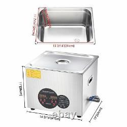 Large 15L Ultrasonic Cleaner Heater Timer Bracket Industry Jewelry Glasses Wash