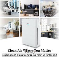 Large Room Air Purifier HEPA Air Cleaner Remove 99.99% Allergies TVOC Smoke Odor