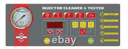 Latest 6 Jar Auto LED Fuel Injector Tester & Cleaner with Ultrasonic Cleaner New