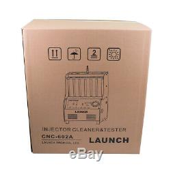 Launch 6-cylinder CNC602A Ultrasonic FUEL Injector Cleaner Tester English Panel