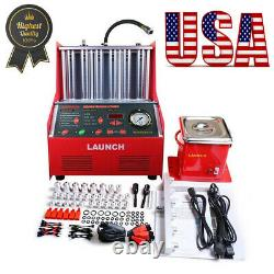 Launch CNC602A 6-cylinder 110V Ultrasonic Fuel Injector Cleaner Tester Machine