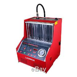 Launch CNC602A Ultrasonic Fuel Injector Cleaner & Tester Automotive 6 Cylinder