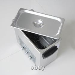 NZL New 220V Stainless Steel 6 L Liter Heated Ultrasonic Cleaner Heater withTimer