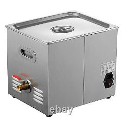New 10L Ultrasonic Cleaner Stainless Steel Industry Heated Heater withTimer