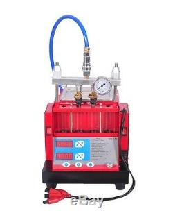New 4 Jars Cylinders Auto Fuel Injector Tester & Ultrasonic Cleaner MST-30