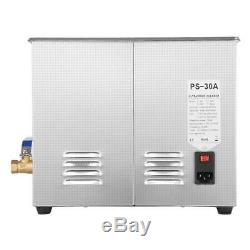 New 6L Stainless Steel Liter Industry Heated Ultrasonic Cleaner Heater withTimer