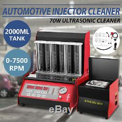 New LAUNCH Auto TQ-6C Ultrasonic Fuel Injector Tester & Cleaner For Petrol Car