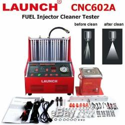 New LAUNCH CNC602A Ultrasonic Fuel Injector Tester Cleaner + 110V Transformer
