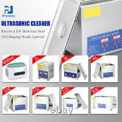 New Stainless Steel 2-30 Liter Industry Heated Ultrasonic Cleaner Heater Timer