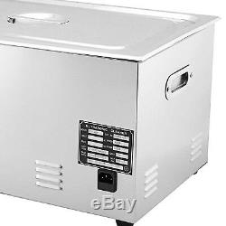 New Stainless Steel 22 L Liter Industry Heated Ultrasonic Cleaner Heater withTimer