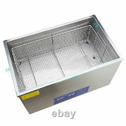 New Stainless Steel 30L Liter Industry Heated Ultrasonic Cleaner Heater withTimer