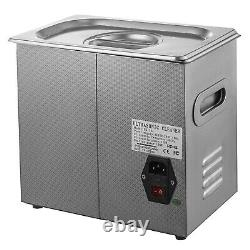 New Stainless Steel 6 L Liter Industry Heated Ultrasonic Cleaner Heater withTimer