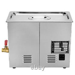 New Stainless Steel 6 Liter Industry Heated Ultrasonic Cleaner withTimer