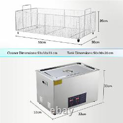 Preenex 304 Steel 30L Liter Industry Heated Ultrasonic Cleaner Heater Timer tet