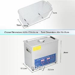 Preenex 6L Electric Ultrasonic Cleaner Machine 304SS with Digital Timer & Heater