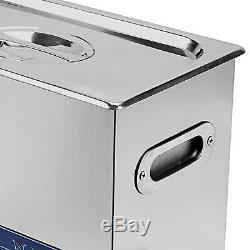 Pro Stainless Steel 6l Liter Ultrasonic Cleaner Industry Heated With Timer Heater