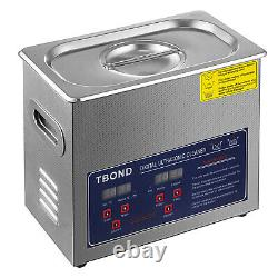 Professional Digital Ultrasonic Cleaner Machine with Timer Heated Cleaning 3L US