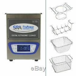 SRA TruPower UC-20D-PRO Professional Ultrasonic Cleaner, 2 liter Capacity wit