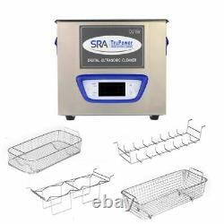 SRA TruPower UC-32D-PRO Professional Ultrasonic Cleaner, 3 liter Capacity wit