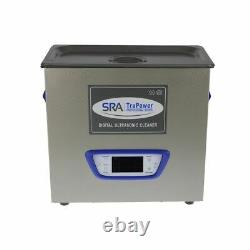 SRA TruPower UC-65D-PRO Professional Ultrasonic Cleaner, 6 liter Capacity wit