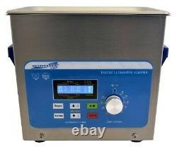 SharperTek 3 Liter 3/4 Gallon Ultrasonic Heated Cleaner Dental Or Jewelry XPS120